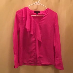 Bright pink blouse with ruffles!